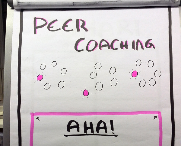 Peer Coaching - eksempel på visuel facilitering