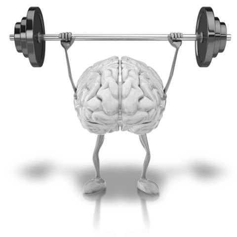 Hjerne der løfter vægte