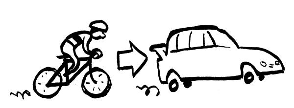 Fra cykel til bil